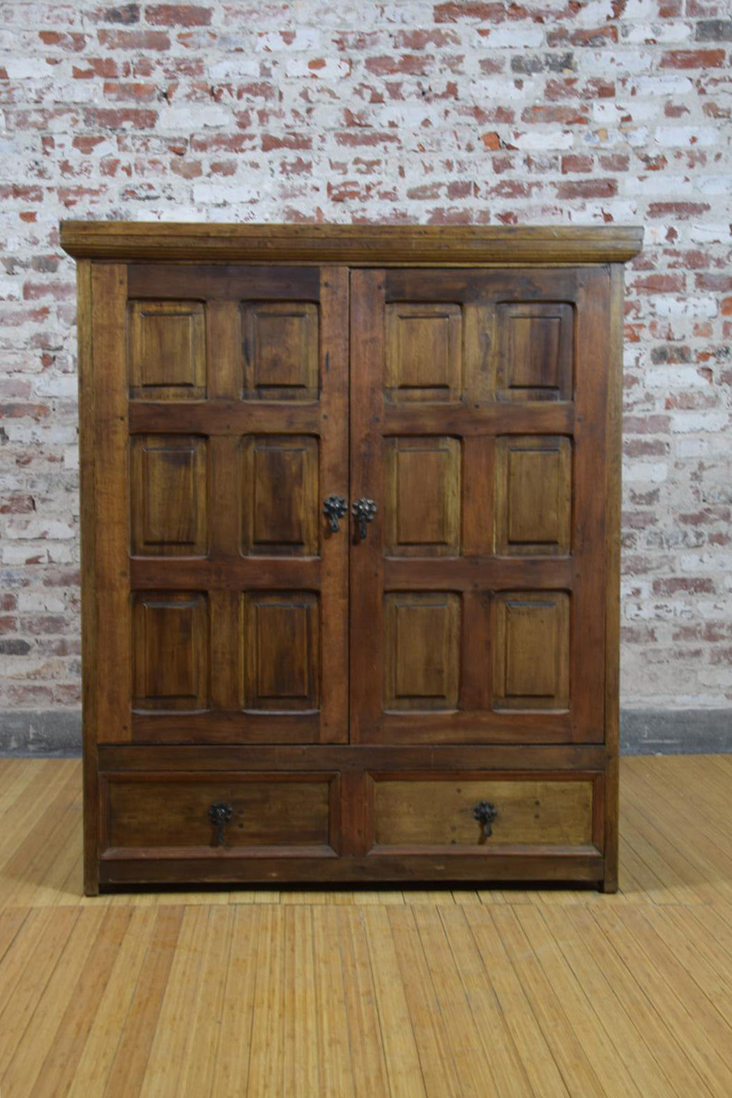 Barnwood Armoire - Media Cabinet Bottom Drawers WA-032