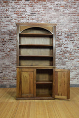 Barnwood Bookcase - Pediment Trim Carvings