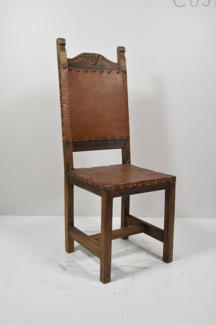 Barnwood Dining Chair - Raw Leather