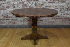 Barnwood Side Table - Round Dimpled Copper Top