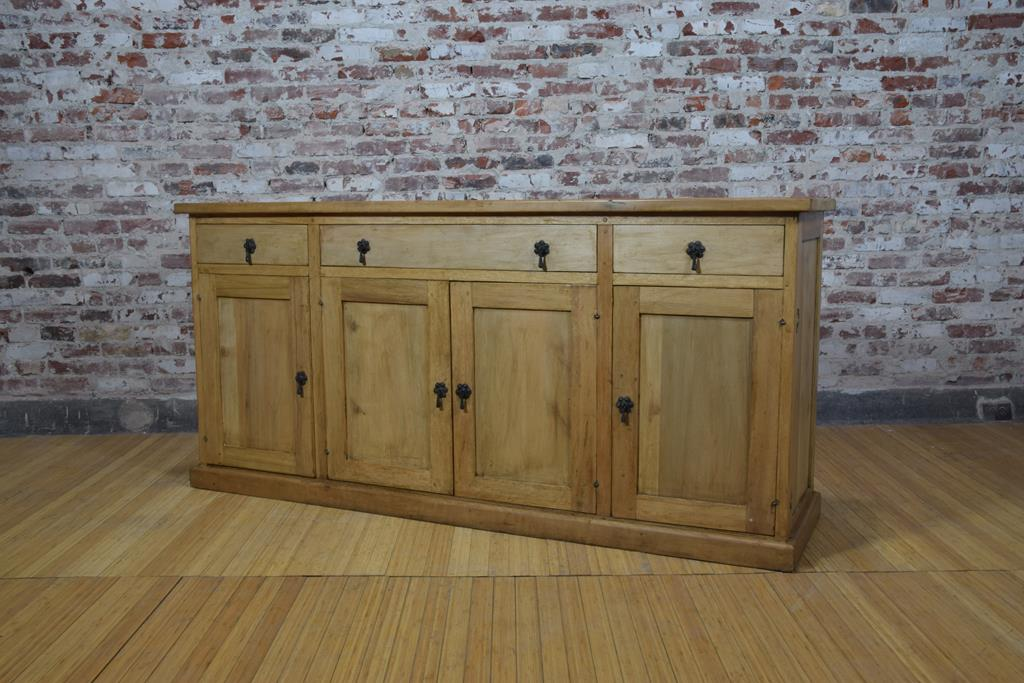 Barnwood Side Board - Four Cabinet