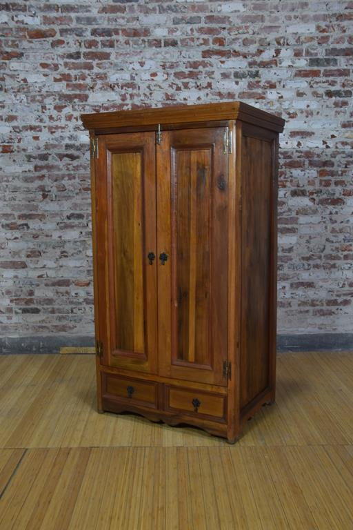 Barnwood Armoire - Contemporary Wave Trim