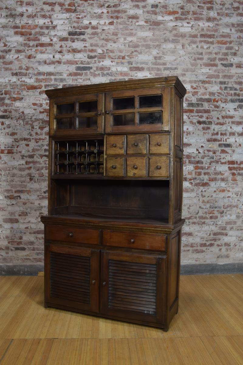 Barnwood Hutch - China Ware Storage Cabinet