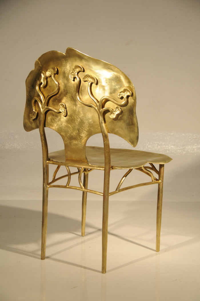BRONZE GINKGO CHAIR  F -2847