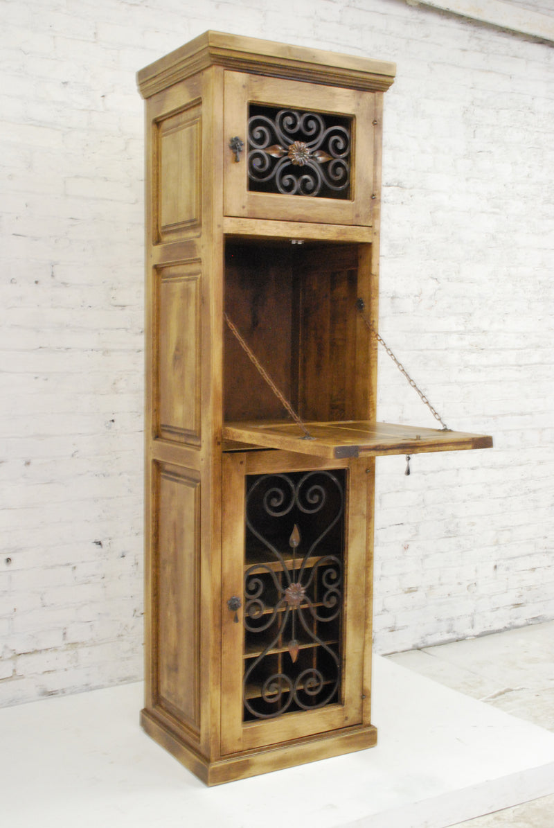 Barn Wood Vertical Bar Cabinet- BH-001