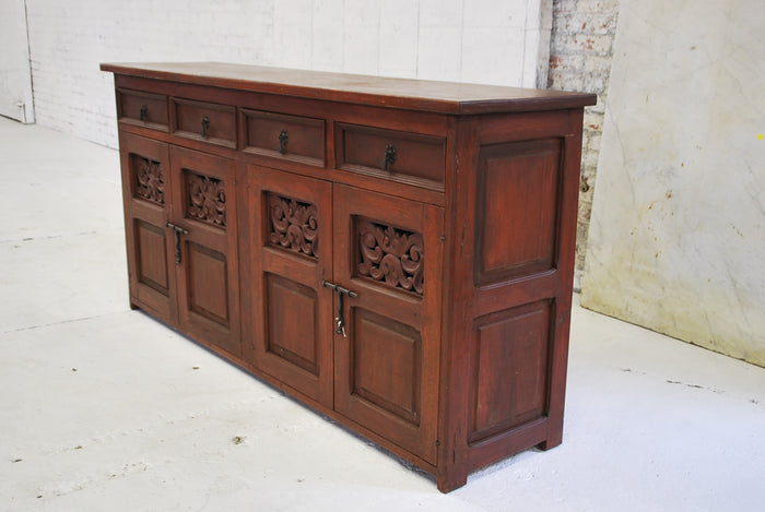 Barn Wood Server Cabinet (CHERRY)