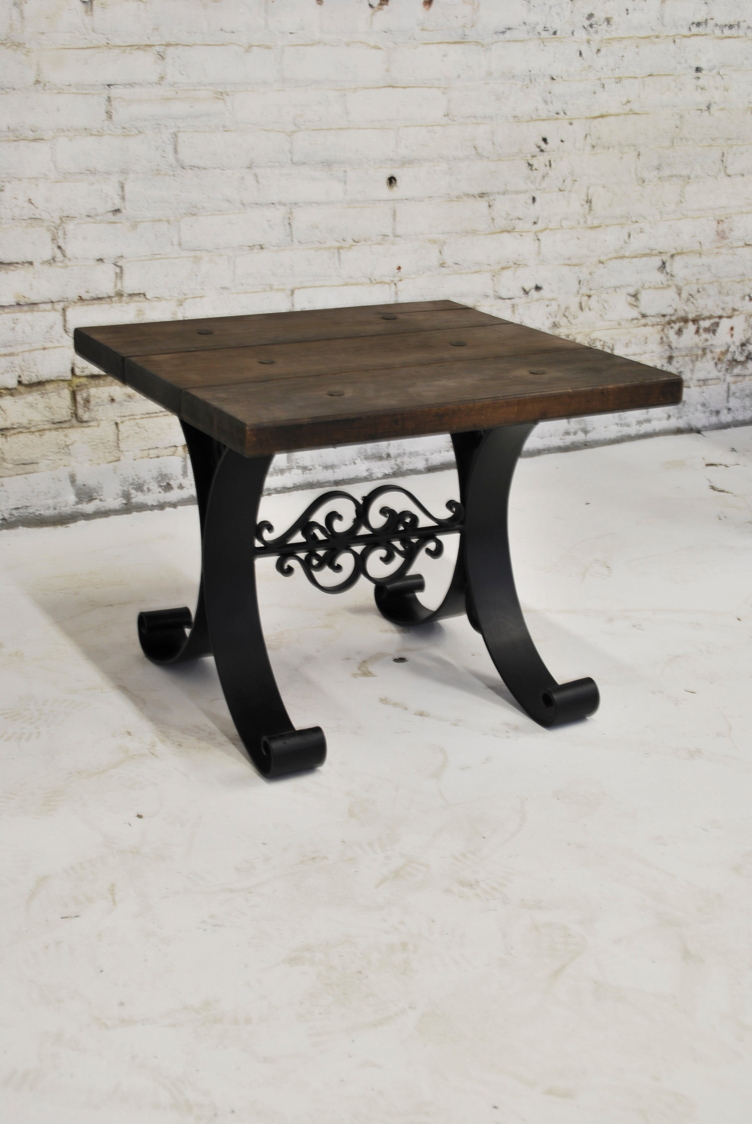 Iron and Wood Server Table (Short) ST-007