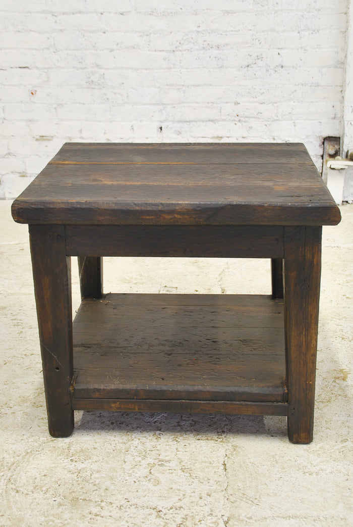 Barn Wood Side Table - Bottom Shelf
