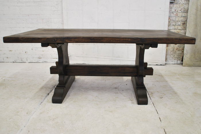 Reclaimed wood dining table T-011