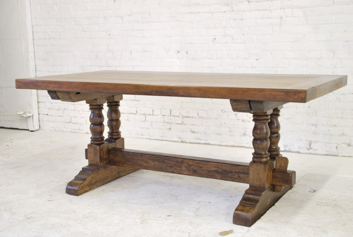 Barn-wood dining table T-012