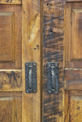 Barn Wood Armoire - Rectangle Panel Carving AR-009