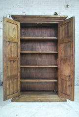 Barn Wood Armoire - Column Accents AR-008