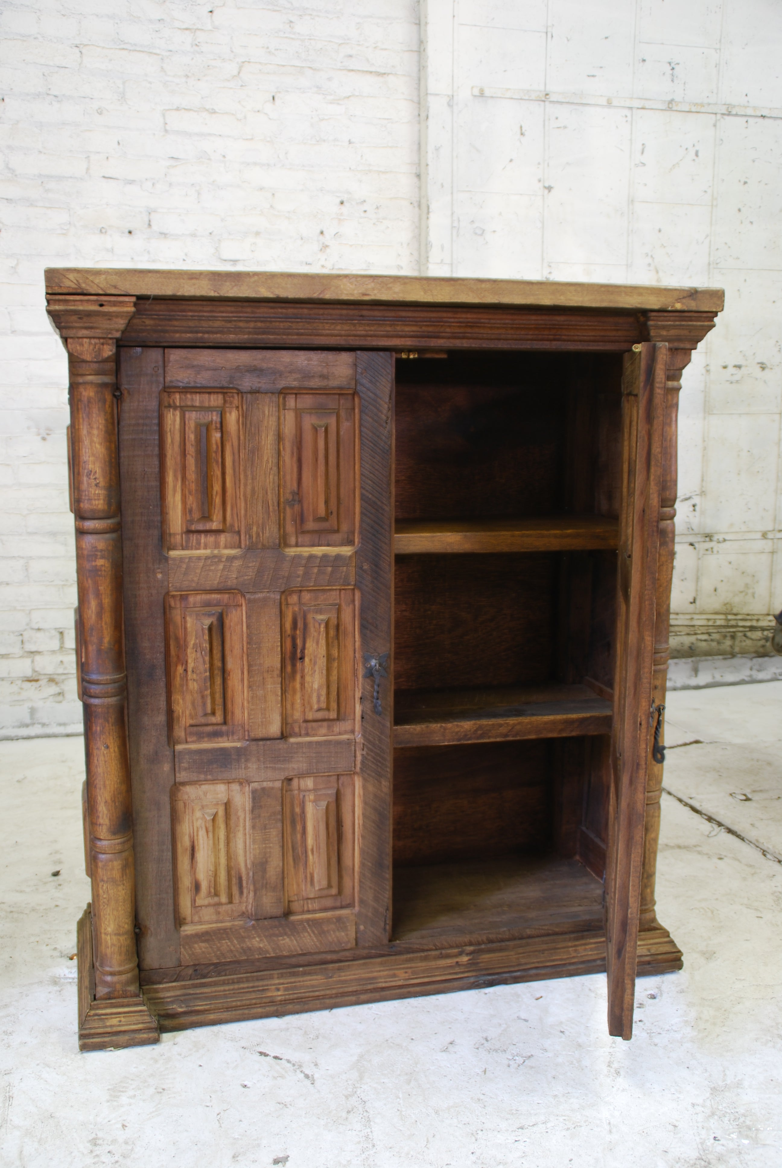 Reclaimed Barn Wood Bookcase - Wide Column Accents