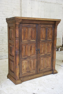 Reclaimed Barn Wood Armoire - Media Cabinet