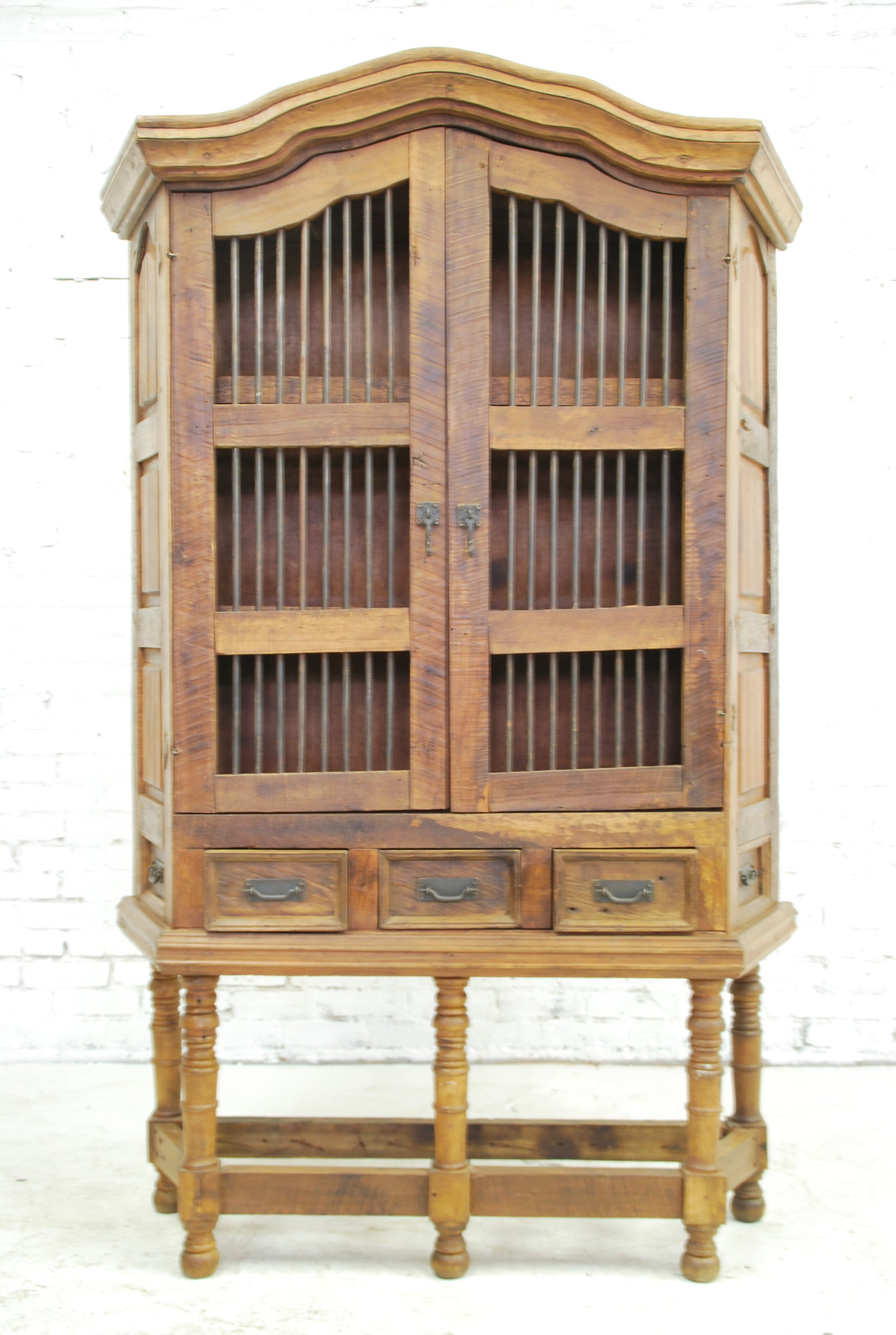 Barn Wood Armoire - Barred Display AR-027