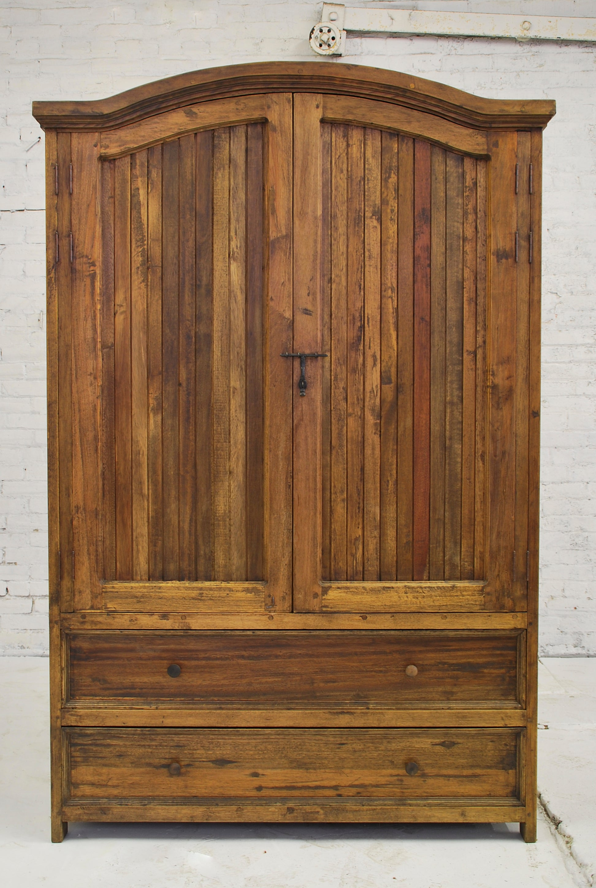 Barn Wood Armoire - Strip Panels and Hidden Doors  AR-020