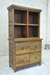 Barn Wood Bookcase - Cabinet Base