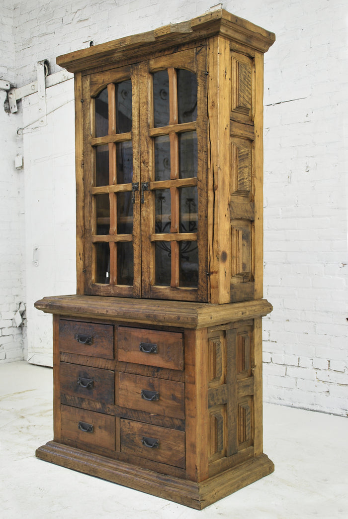 Barn Wood Hutch - Full Glass Display