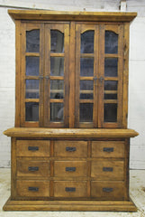 Barn Wood Hutch - Double Wide Full Glass Display