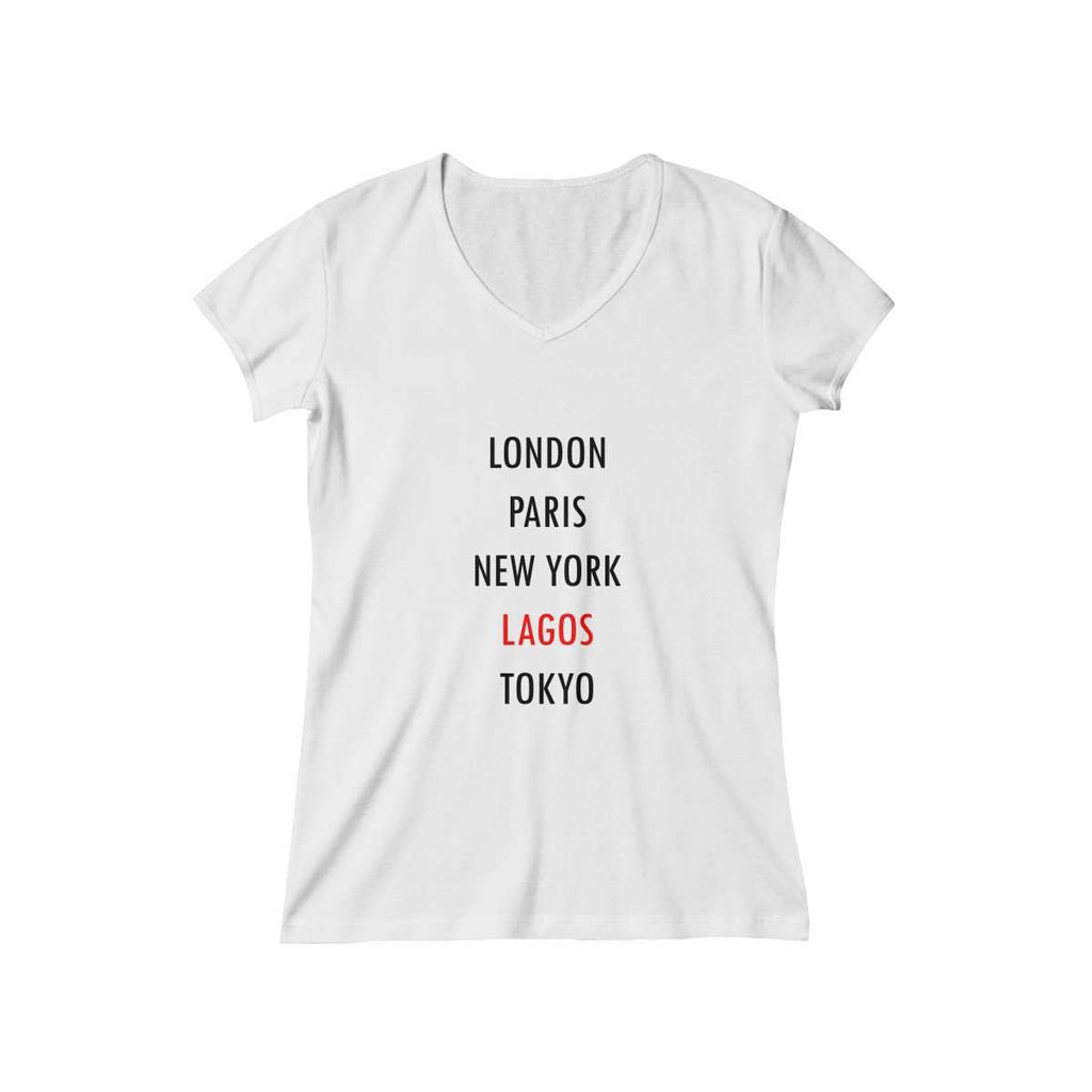Women's Global City Lagos V-Neck (White)