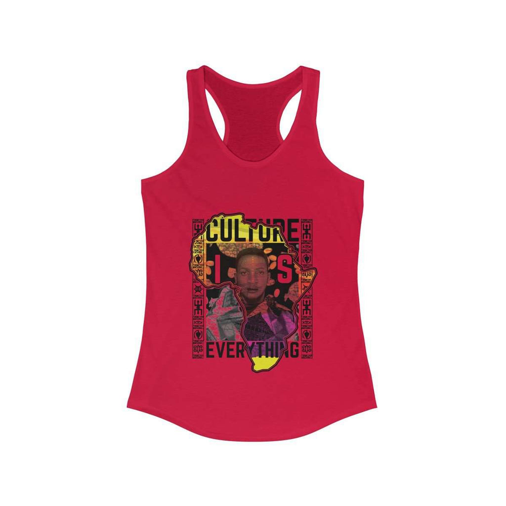 Africa Map Culture is Everything Tank Top (Red)