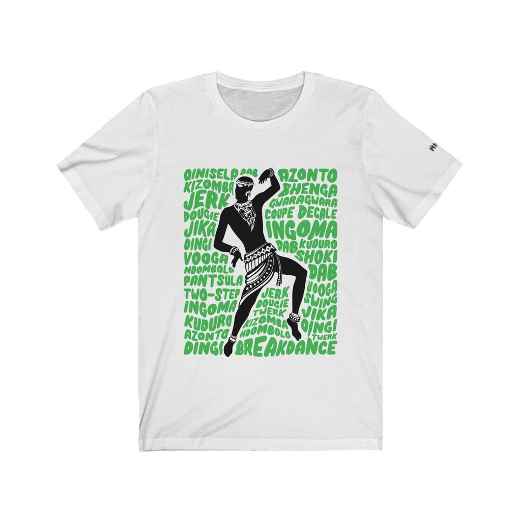 African Dancer Graphic T-Shirt (White)