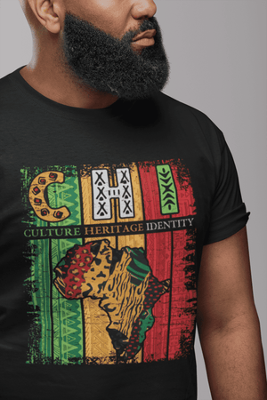 African Pattern Culture Heritage Identity Graphic T-shirt (Black)