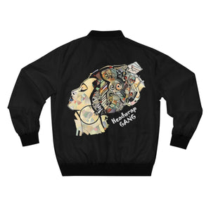 African Woman Headwrap Gang Bomber Jacket