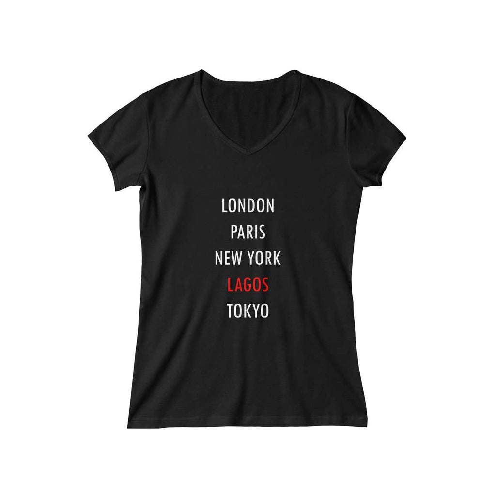 Women's Global City Lagos V-Neck (Black)