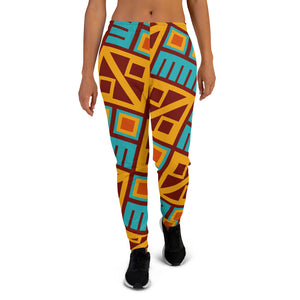 Block Pattern Women's Joggers