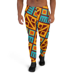 Block Pattern Men's Joggers