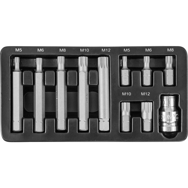 11 Piece 10mm Spline Bit Set S29H4111S Jonnesway Tools