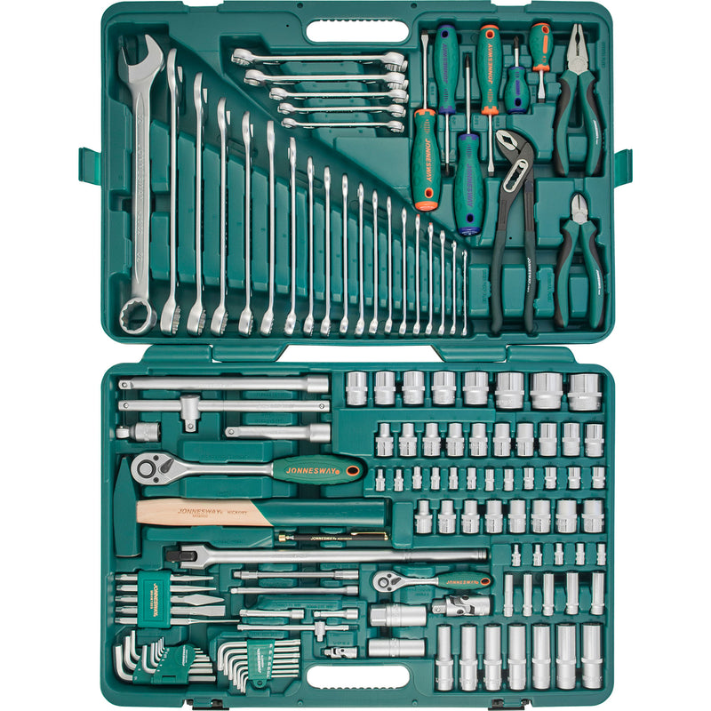"127 Piece Tool Set 1/2"", 1/4"" Dr. Garage, Mechanic tools DIY S04H524127S Jonnesway"
