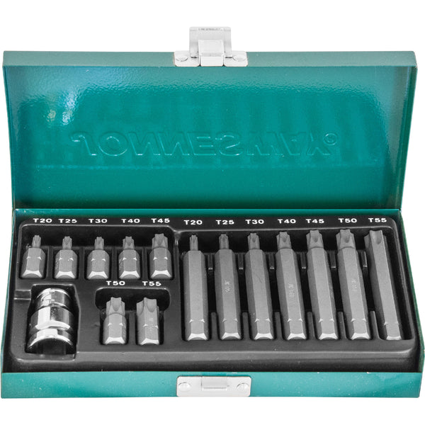 15 Piece 10mm Star Bit Set S29H4215S Jonnesway Tools