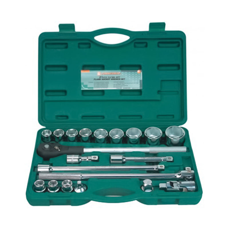 "21 Piece 3/4"" Dr. 6pt. Flank Set Of End Heads 19-50 Mm S04H6321S Jonnesway Tools"