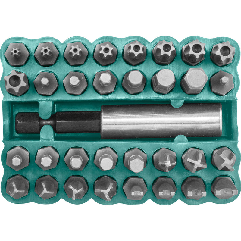 "33 Piece 1/4"" Security Bit Set S29H2133S Jonnesway Tools"