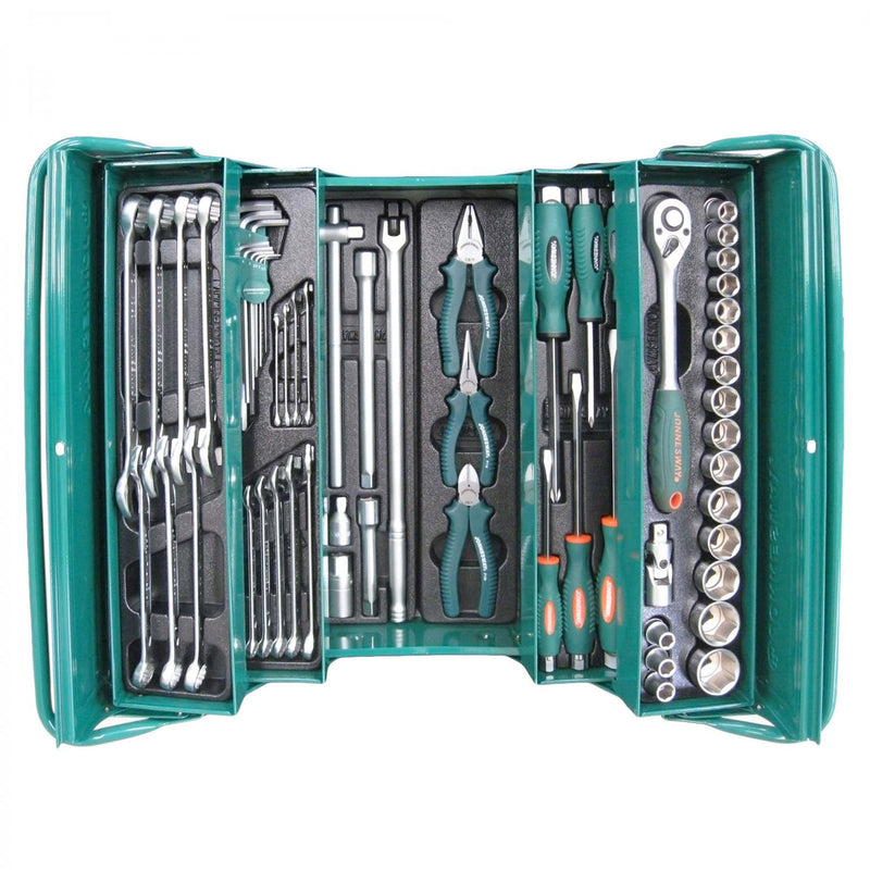 "1/2"" Dr 62 Piece Tool Chest Set Mechanics, Garage & Household Tools C-3DH262 Jonnesway"