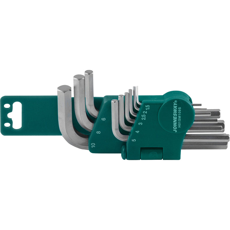 9 Piece Hex Key Set, 1,5-10 mm H01SM109S Jonnesway Tools