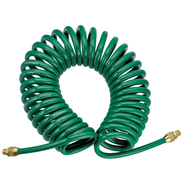 "Pu Re-coil Air Hose W/1/4""Male, 8x12 Mm, 13m JAZ-7214J Jonnesway Tools"