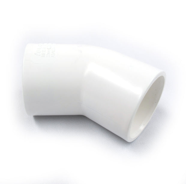 Elbow 32mm x 45 Deg PVC