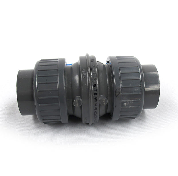 PVC Coloro Valve 25mm with unions and sockets