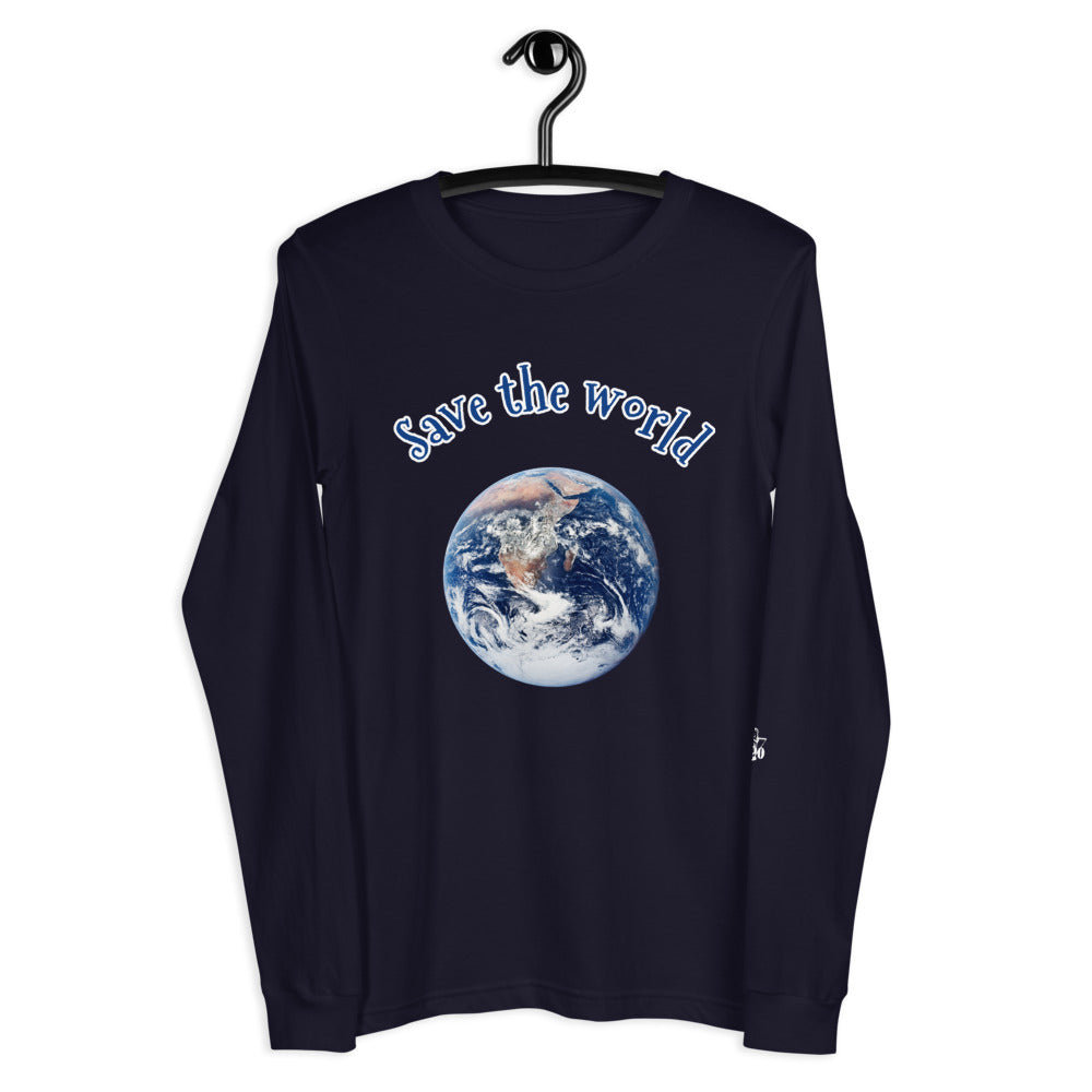 "Maglia a maniche lunghe con stampa - ""Save the world"""