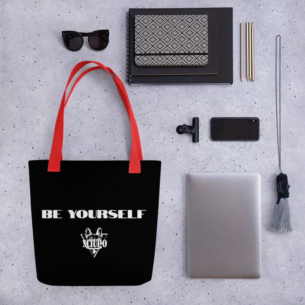 "Borsa di stoffa - ""Be yourself"" - Sciupo"