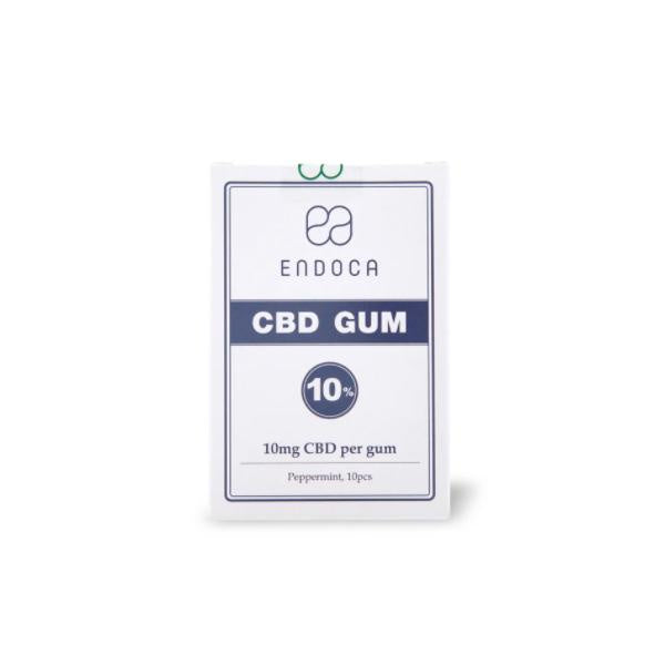 Endoca CBD Chewing Gum Peppermint 100mg - 10pcs