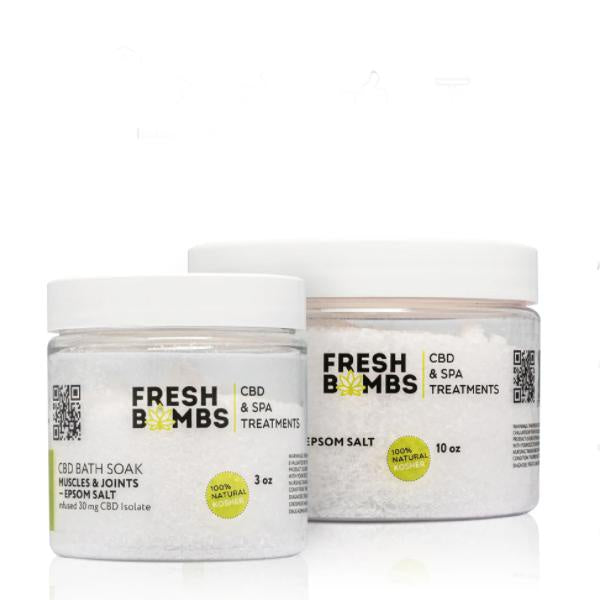 Fresh Bombs CBD Bath Soak Muscles & Joints 30mg - 3oz