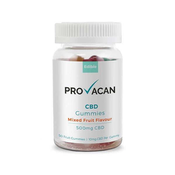 Provacan CBD Gummies Mixed Fruit Flavour 500mg - 50pcs