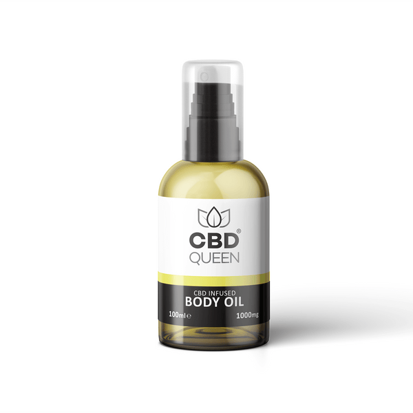 CBD Queen CBD Infused Body Oil 1000mg - 100ml