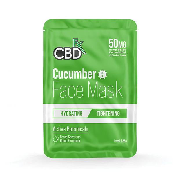 CBDfx Face Mask - Cucumber (Hydrating/Tightening) - 1pcs