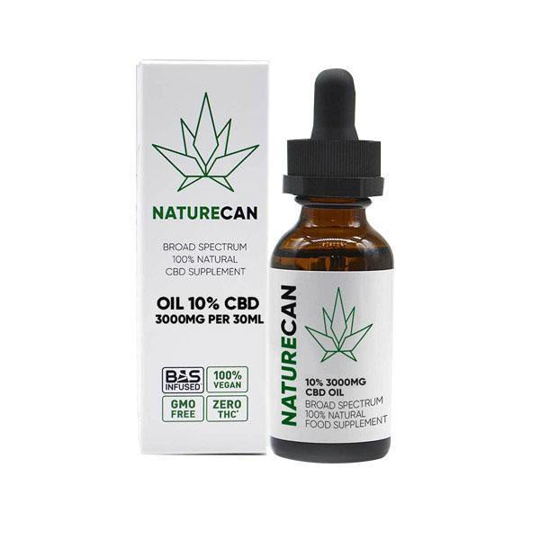 Naturecan CBD Broad Spectrum 100% Natural Oil 3000mg - 30ml
