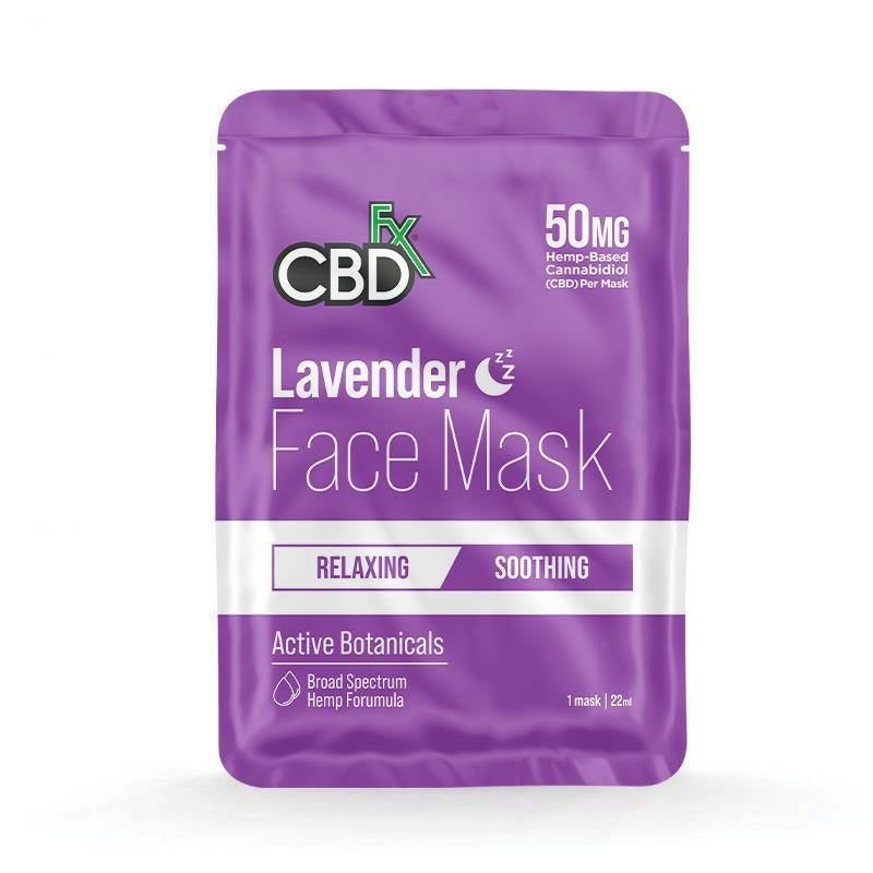 CBDfx Face Mask - Night/Lavender (Relaxing/Soothing) - 1pcs